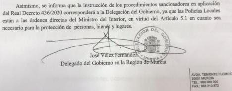 El PP lorquino reclama que el gobierno central envíe de inmediato al hospital Rafael Méndez el material sanitario solicitado en vez de preocuparse por cobrar multas