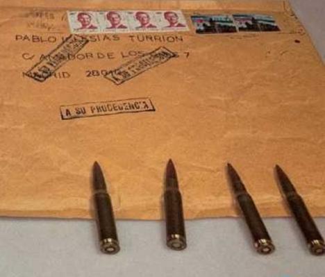 Pablo Iglesias, Fernando Grande-Marlaska y María Gámez, reciben una carta con amenazas de muerte y unas balas