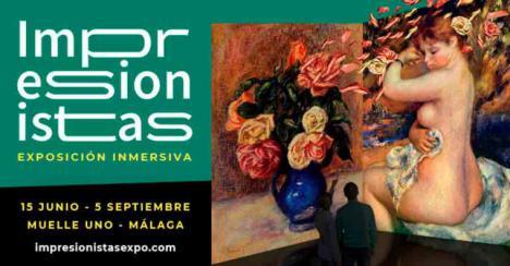 La exposición inmersiva 'Impresionanistas' prorroga su estancia en Málaga hasta el 12 de septiembre