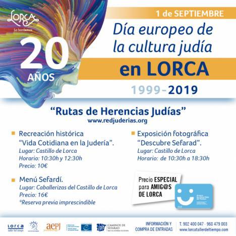 Este próximo domingo Lorca celebrará la 20ª edición de la Jornada Europea de la Cultura Judía con actividades para toda la familia en el Castillo