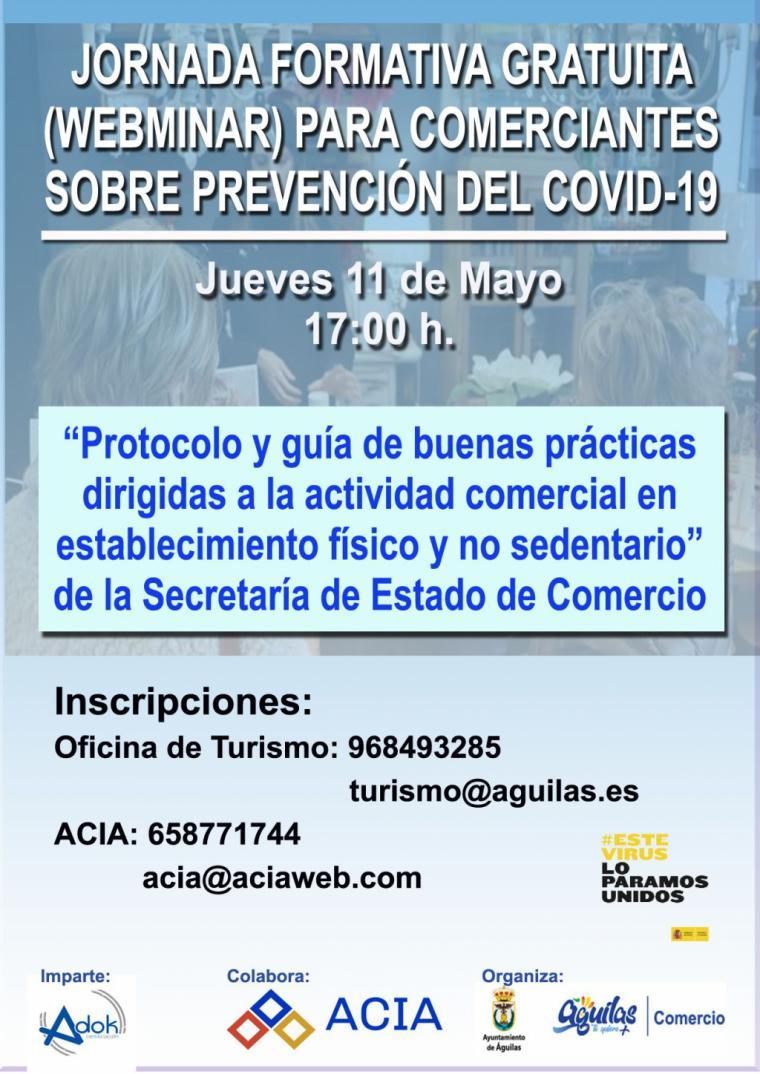 Abierto el plazo de inscripción para la jornada formativa sobre protocolos de prevención frente al COVID-19 para comercios locales
