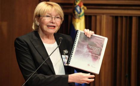 Luisa Ortega la que fuera fiscal general de Venezuela teme por su vida
