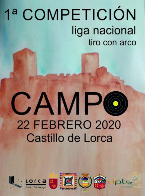El Castillo de Lorca acogerá, este próximo sábado 22 de Febrero, la primera jornada de la Liga Nacional de Tiro con Arco en la disciplina de Campo