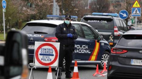 Alrededor de 2.000 efectivos de Policía Nacional y Guardia Civil refuerzan la vigilancia para garantizar el cierre perimetral de la Región y el cumplimiento de las medidas sanitarias