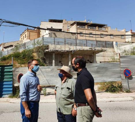 El Ayuntamiento de Lorca inicia las obras para la consolidación del muro de la calle Portijico