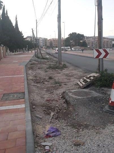 IU-Lorca pide soluciones para el camino Marín cuyas obras llevan casi un año paralizadas