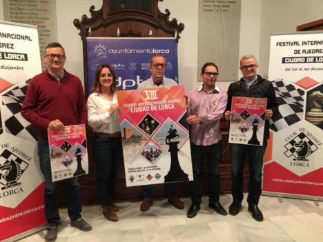 """Alrededor de 280 participantes se darán cita en el, ya consolidado, """"VIII Festival Internacional de Ajedrez Ciudad de Lorca 2019"""" que se celebrará del 26 al 30 de Diciembre"""
