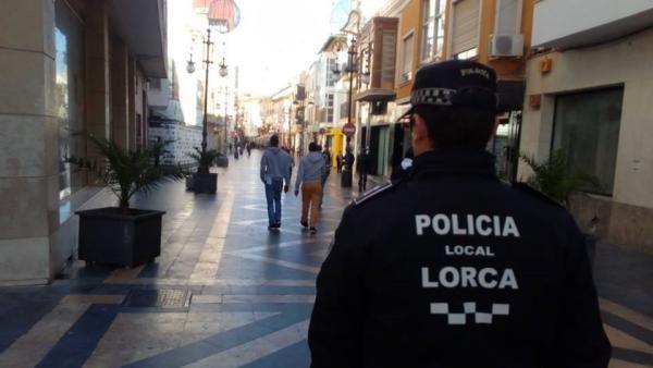 La Policía Local de Lorca detiene a un individuo como presunto autor de un delito de amenazas graves y agresión