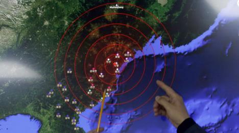 Terremoto en Corea del Norte provocado por un ensayo nuclear.
