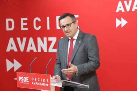 Diego Conesa reitera su ofrecimiento para aprobar los presupuestos, si el Gobierno regional acepta retirar las medidas impuestas por Vox