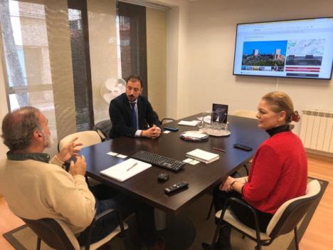 El Concejal de Turismo de Lorca, Francisco Morales, mantiene una reunión de trabajo en Madrid con la Asociación de Castillos y Palacios Turísticos de España
