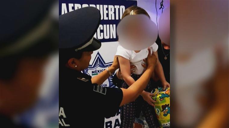 Rescatan en el aeropuerto de Cancún, la niña española secuestrada
