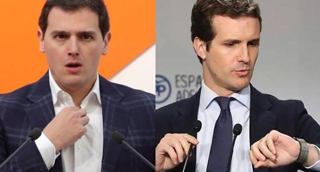 Ayer Rivera le ofrecía un gobierno de coalición a Casado y hoy Casado le ofrece a Rivera ser su Ministro de Exteriores