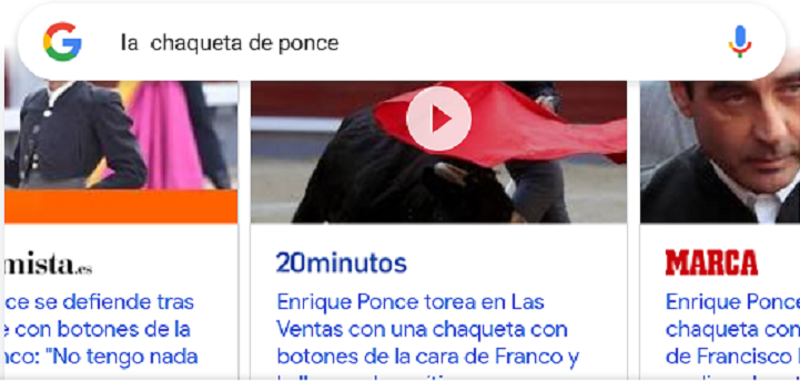 """Nuevodiario.es lidera la opinión nacional con el artículo de Rogelio Mena sobre la """"botonera franquista"""" de Enrique Ponce"""