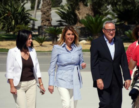 El viaje relámpago de Susana Díaz a la Comarca del Almanzora para verse con Cosentino