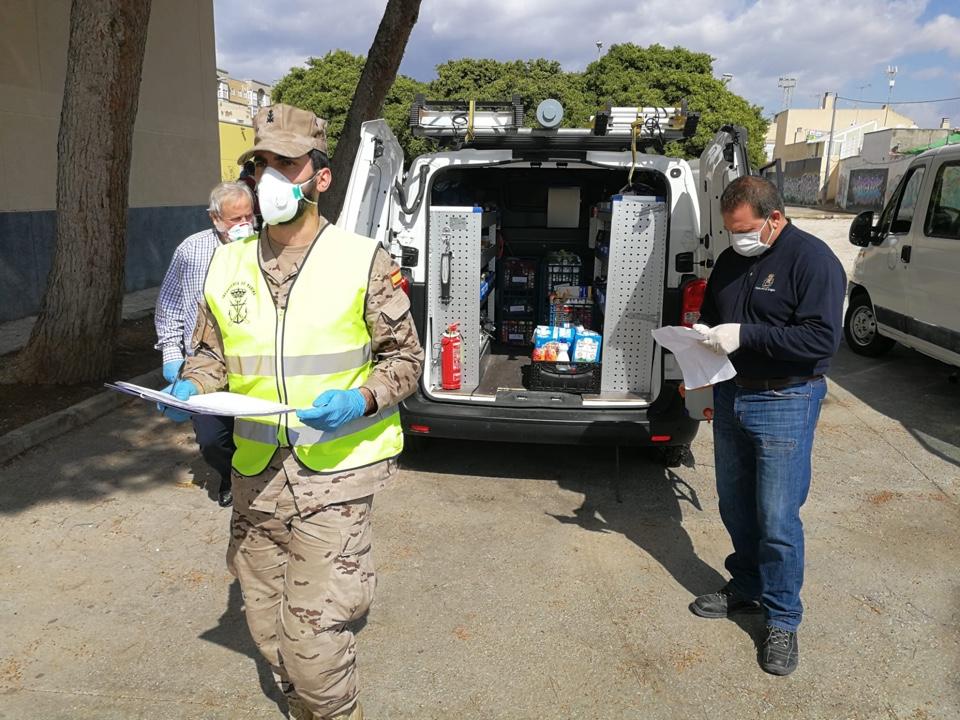 Coordinación entre el Tercio de Levante (TERLEV) y las autoridades locales y Fuerzas y Cuerpos de Seguridad del Estado de varios municipios de la provincia dentro de la Operación BALMIS contra el COVID-19