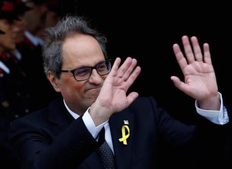 Torra mantiene su pulso con Sánchez y ahora amenaza con abrir las cárceles para poner en libertad a los políticos catalanes que están presos