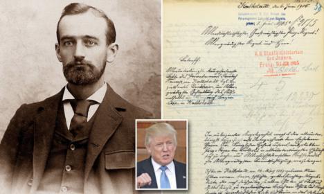 Sale a la luz una carta del abuelo de Trump, en la que rogaba que no le deportaran