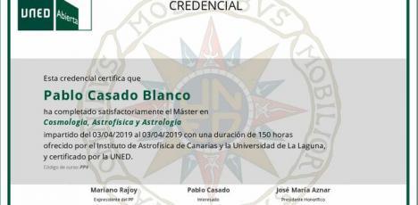 Pablo Casado recibe un nuevo máster en Canarias