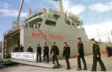 El 'Martín Posadillo' inicia su despliegue en apoyo a los contingentes españoles en Líbano y Turquía
