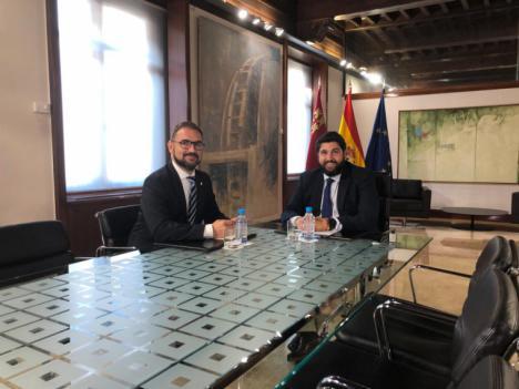 El Alcalde de Lorca plantea a López Miras la necesidad de que la CARM culmine los proyectos que aún quedan pendiente en el municipio