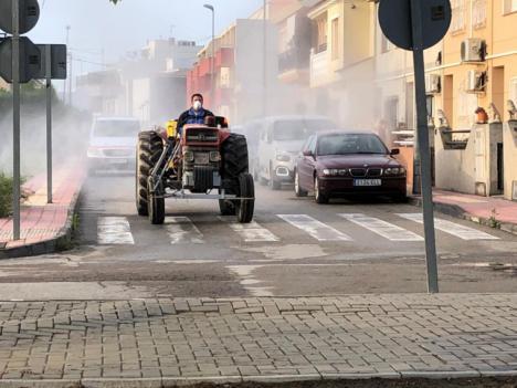 El Ayuntamiento de Puerto Lumbreras intensifica las tareas de limpieza y desinfección contra el Covid-19