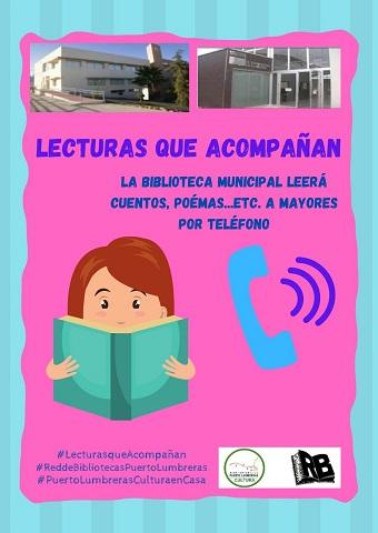 """La Red de Bibliotecas de Puerto Lumbreras lleva a cabo la iniciativa """"Lecturas que acompañan"""" destinada a los mayores de 65 años que viven solos"""