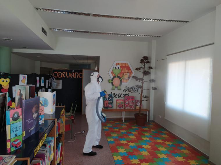 La Biblioteca Municipal de Puerto Lumbreras prepara sus instalaciones para la reapertura este lunes con horario especial