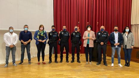 Tres nuevos agentes de la Policía Local toman posesión de su cargo en el Ayuntamiento de Puerto Lumbreras