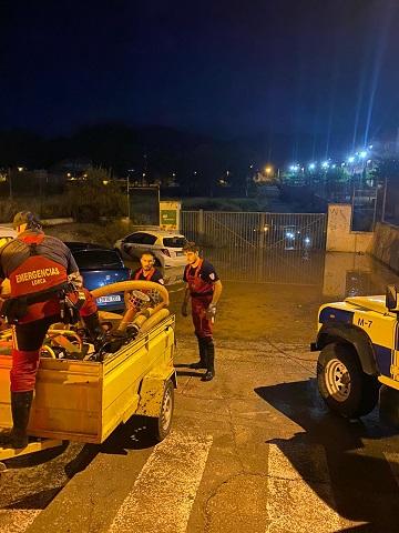 Una fuerte tromba de agua deja en Lorca un total 32 litros, 16 de los cuales descargaron en tan solo cinco minutos