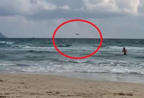 Muere el piloto de un un avión perteneciente a la Academia General del Aire al estrellarse en el mar en La Manga