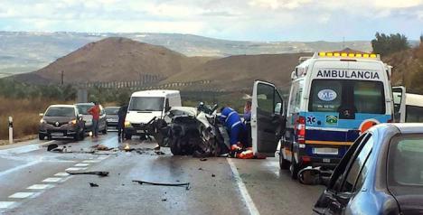 Jódar está de luto por la muerte de cuatro jóvenes en accidente de tráfico
