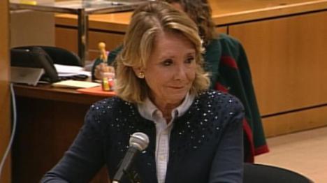 Si el juez accede, Esperanza Aguirre declará como investigada por la financiación del PP