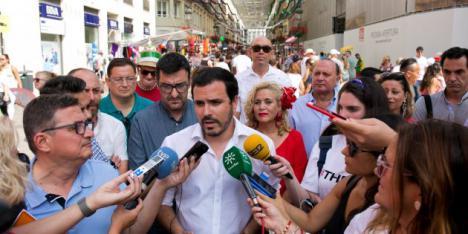 Detenido un individuo en el Rincón de la Victoria por intentar agredir al líder de Izquierda Unida, Alberto Garzón