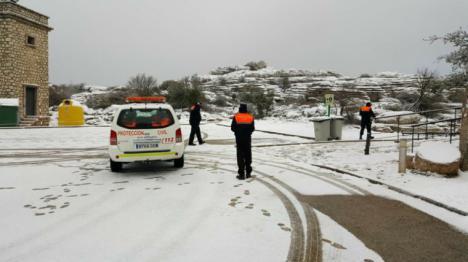 La nieve baja su cota hasta los 900 metros y llega a los Montes de Málaga