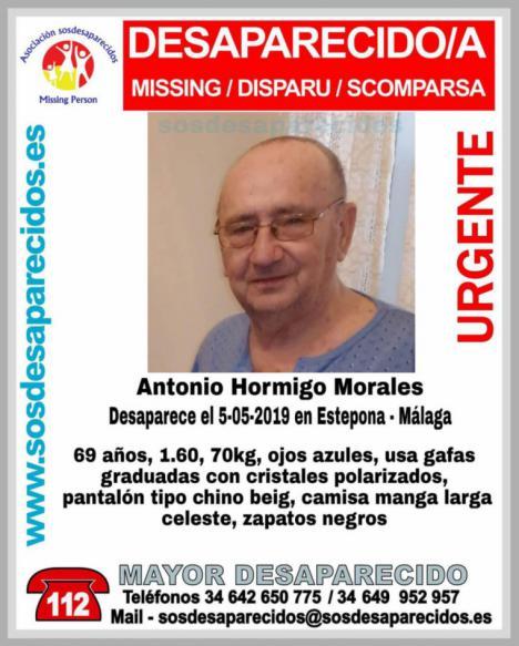 Sigue la busqueda de un vecino de Estepona desaparecido este domingo