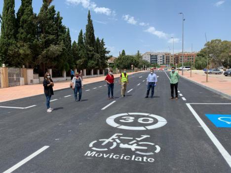 El Alcalde de Lorca supervisa la fase final de las obras de acondicionamiento y mejora de infraestructuras del Camino Marín y las calles adyacentes