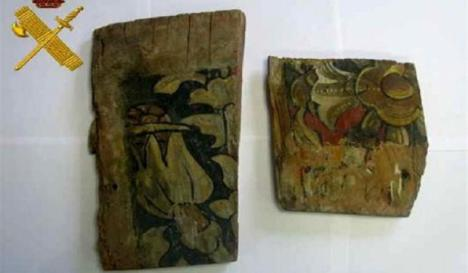 Recuperados en Bailén fragmentos del artesonado mudéjar del siglo XV de una iglesia de Valladolid