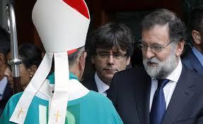 Rajoy se encomienda a la iglesia para solucionar el problema catalán