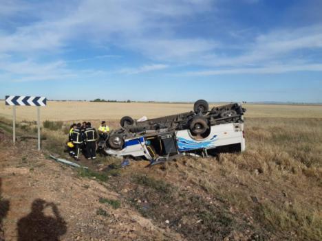 Accidente de un autobús escolar en Daimiel