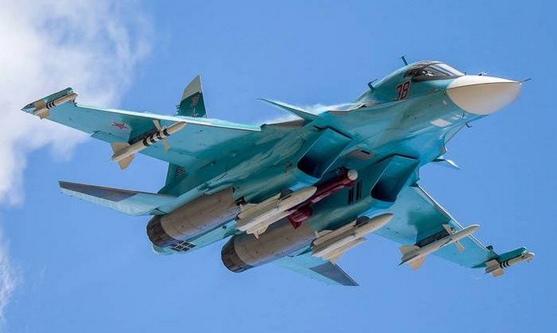 El bombardero táctico ruso Su-34 empleó con éxito el proyectil Kh-35U para eliminar las instalaciones de los terroristas sirios.