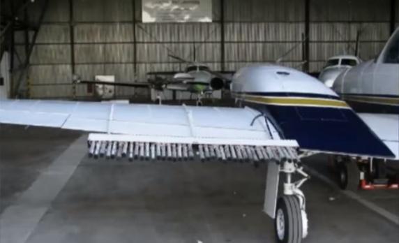 Las avionetas que evitan que llueva