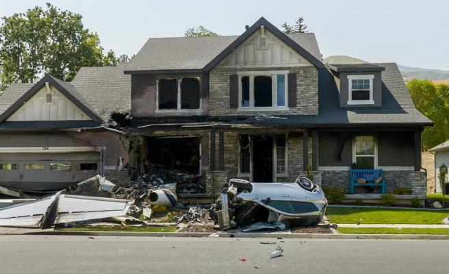 Muere un hombre en EE.UU tras estrellar su avioneta contra su casa para vengarse de su mujer
