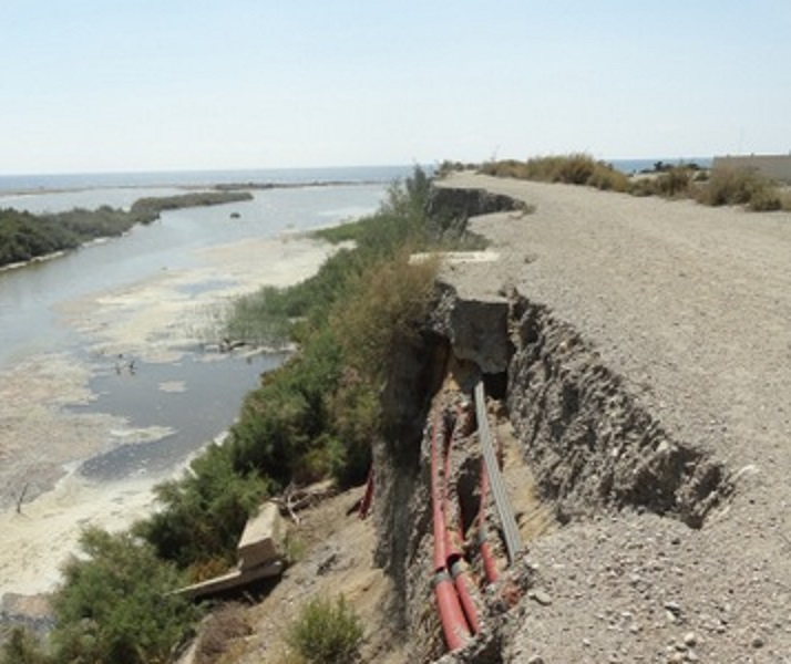 Los regantes almerienses lamentan que el agua que dejará la borrasca 'Filomena' vaya directamente al mar y no pueda embalsarse para regadío