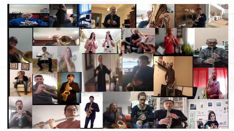 La Banda Municipal de Música de Lorca ameniza esta Semana Santa atípica grabando un vídeo coral de los himnos azul y blanco
