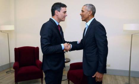 Sánchez se reunirá con Obama en Sevilla donde el expresidente de EEUU participará en el Congreso Internacional de Turismo