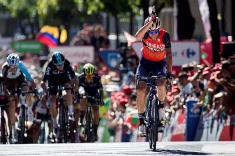 Chris Froome lider de la vuelta.
