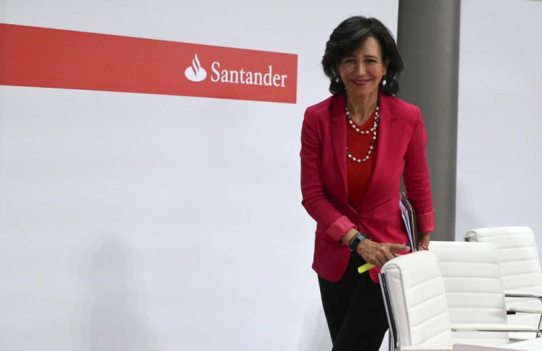 El Santander cede un 3,25% en bolsa