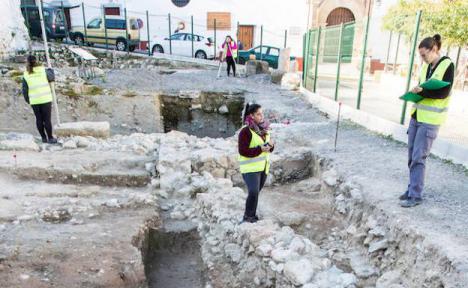 Los arqueólogos descubren un acceso desconocido a Cártama. La construcción data del siglo III antes de Cristo