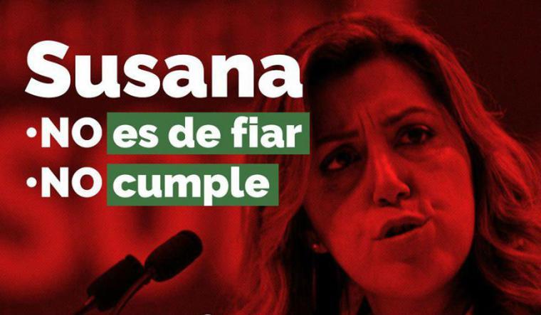 La rebelión socialista en Andalucía pone dificil a Susana Díaz gobernar, a pesar de la 'manita' de Tezanos.
